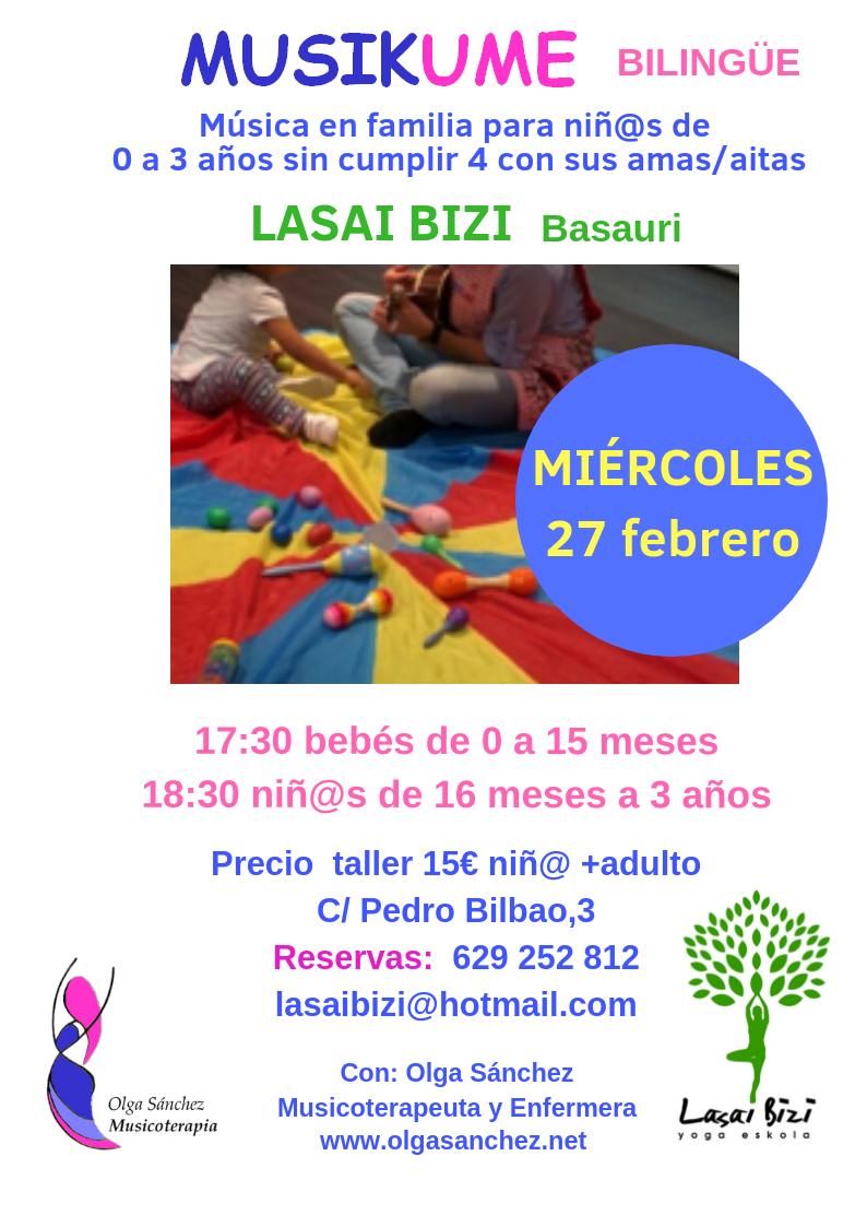 Taller de Musicoterapia para bebés